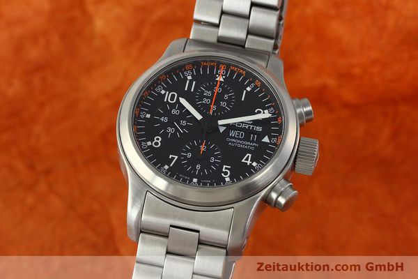 Used luxury watch Fortis B42 chronograph steel automatic Kal. ETA 7750  | 143092 04