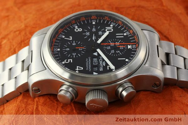 Used luxury watch Fortis B42 chronograph steel automatic Kal. ETA 7750  | 143092 05