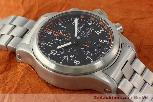 Used luxury watch Fortis B42 chronograph steel automatic Kal. ETA 7750  | 143092 14