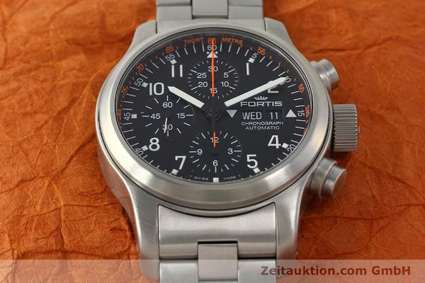 Used luxury watch Fortis B42 chronograph steel automatic Kal. ETA 7750  | 143092 15