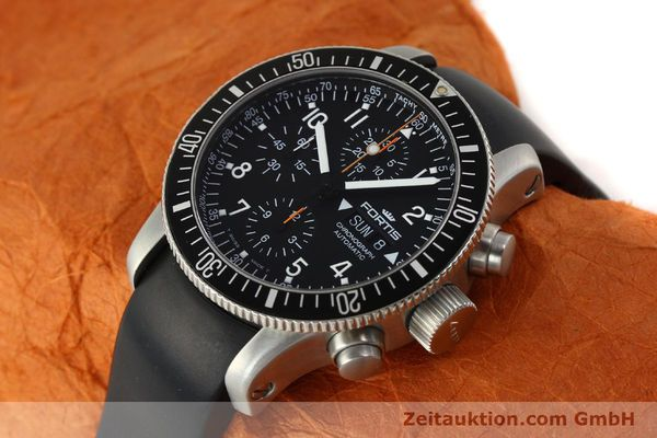 Used luxury watch Fortis B42 chronograph steel automatic Kal. ETA 7750 Ref. 638.22.141  | 143093 01