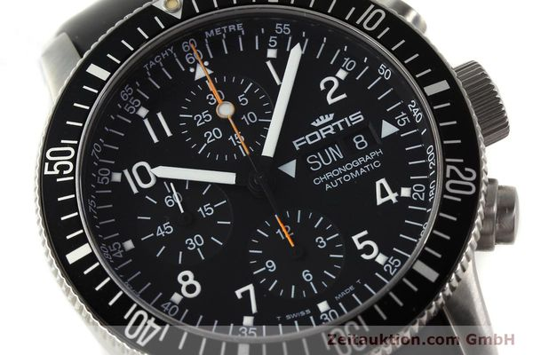 Used luxury watch Fortis B42 chronograph steel automatic Kal. ETA 7750 Ref. 638.22.141  | 143093 02