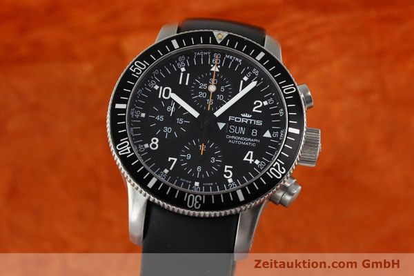 Used luxury watch Fortis B42 chronograph steel automatic Kal. ETA 7750 Ref. 638.22.141  | 143093 04