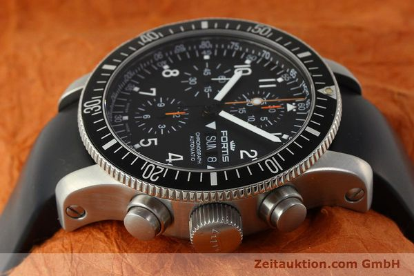 Used luxury watch Fortis B42 chronograph steel automatic Kal. ETA 7750 Ref. 638.22.141  | 143093 05