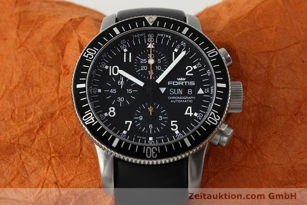 Used luxury watch Fortis B42 chronograph steel automatic Kal. ETA 7750 Ref. 638.22.141  | 143093 15