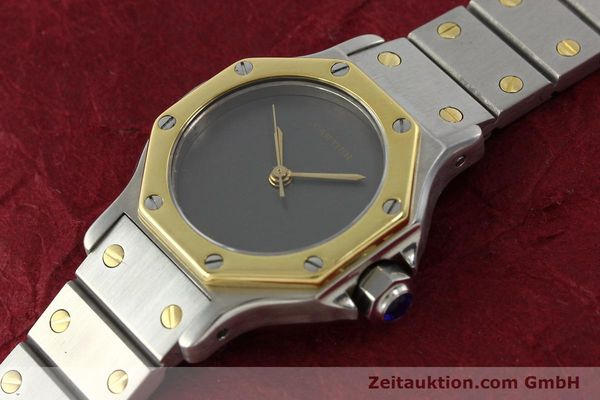 Used luxury watch Cartier Santos steel / gold automatic Kal. ETA 2670  | 143097 01