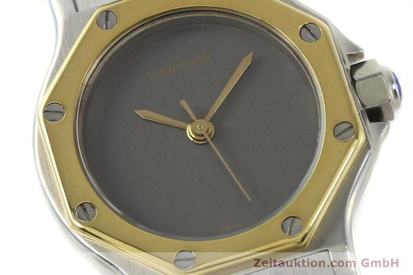 Used luxury watch Cartier Santos steel / gold automatic Kal. ETA 2670  | 143097 02