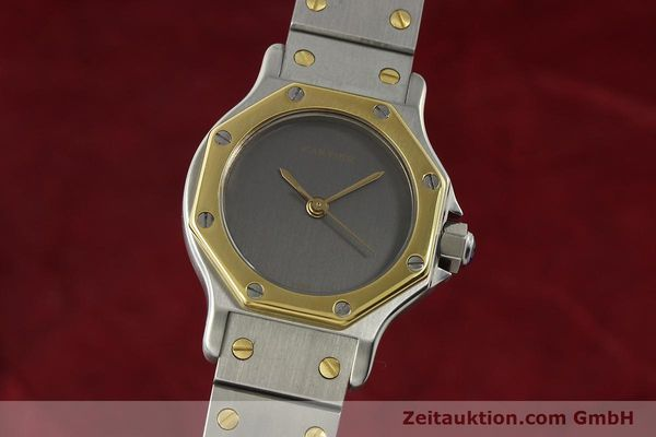 Used luxury watch Cartier Santos steel / gold automatic Kal. ETA 2670  | 143097 04