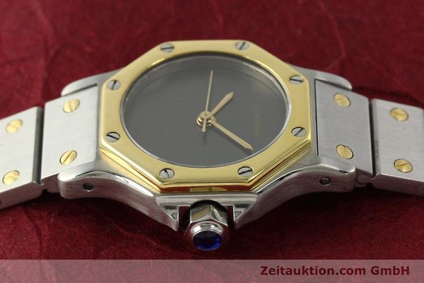 Used luxury watch Cartier Santos steel / gold automatic Kal. ETA 2670  | 143097 05