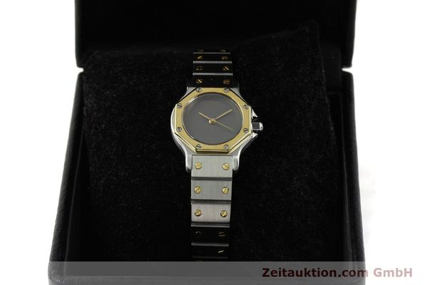 Used luxury watch Cartier Santos steel / gold automatic Kal. ETA 2670  | 143097 07