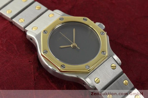 Used luxury watch Cartier Santos steel / gold automatic Kal. ETA 2670  | 143097 13
