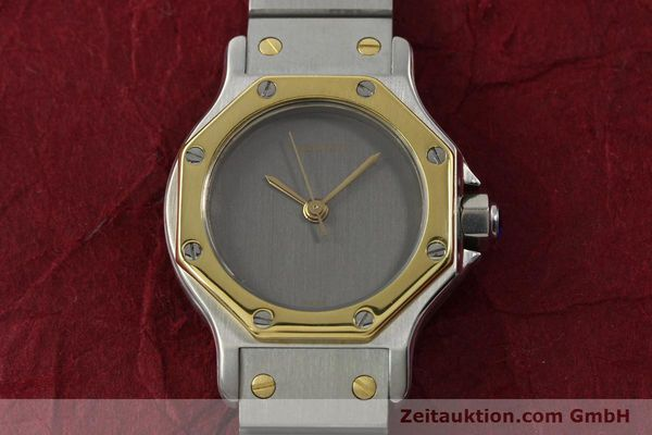 Used luxury watch Cartier Santos steel / gold automatic Kal. ETA 2670  | 143097 14
