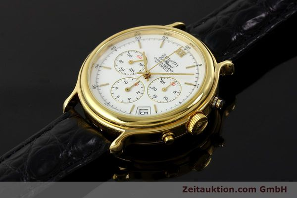 Used luxury watch Zenith Elprimero chronograph gold-plated automatic Kal. 400 Ref. 20.0020.435  | 143099 01