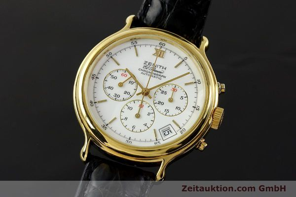 Used luxury watch Zenith Elprimero chronograph gold-plated automatic Kal. 400 Ref. 20.0020.435  | 143099 04