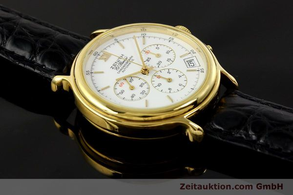Used luxury watch Zenith Elprimero chronograph gold-plated automatic Kal. 400 Ref. 20.0020.435  | 143099 15