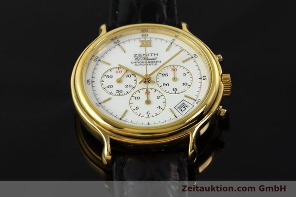 Used luxury watch Zenith Elprimero chronograph gold-plated automatic Kal. 400 Ref. 20.0020.435  | 143099 16
