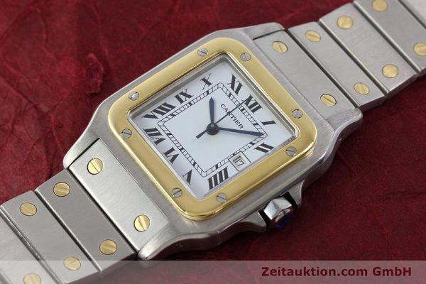 Used luxury watch Cartier Santos steel / gold automatic Kal. ETA 2671  | 143104 01