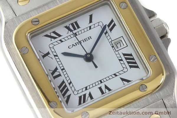 Used luxury watch Cartier Santos steel / gold automatic Kal. ETA 2671  | 143104 02