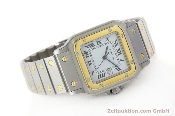 Used luxury watch Cartier Santos steel / gold automatic Kal. ETA 2671  | 143104 03
