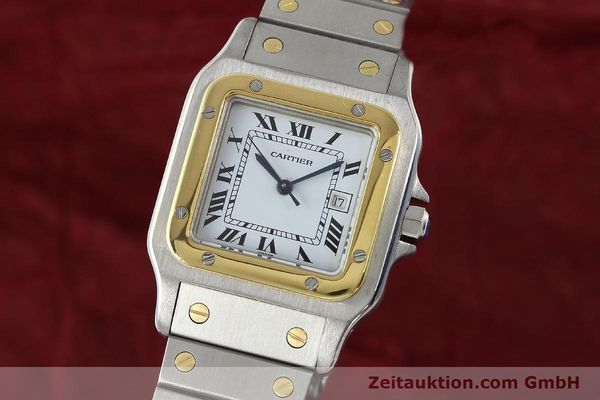 Used luxury watch Cartier Santos steel / gold automatic Kal. ETA 2671  | 143104 04