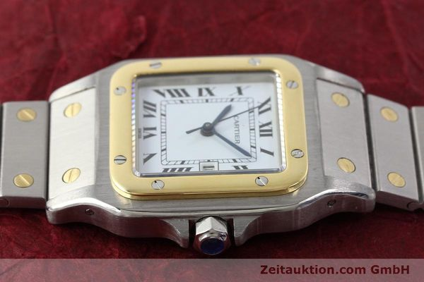 Used luxury watch Cartier Santos steel / gold automatic Kal. ETA 2671  | 143104 05