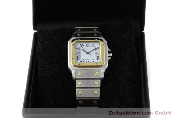 Used luxury watch Cartier Santos steel / gold automatic Kal. ETA 2671  | 143104 07