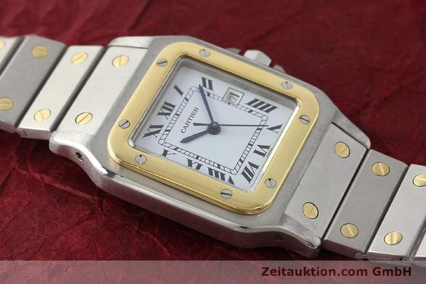 Used luxury watch Cartier Santos steel / gold automatic Kal. ETA 2671  | 143104 12