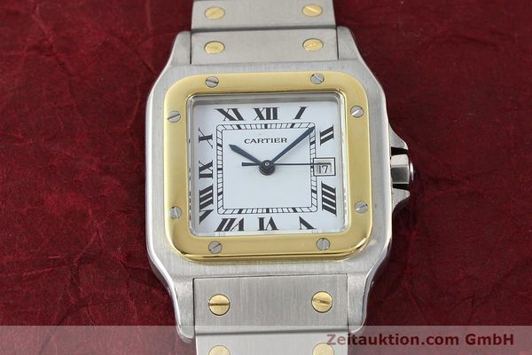Used luxury watch Cartier Santos steel / gold automatic Kal. ETA 2671  | 143104 13