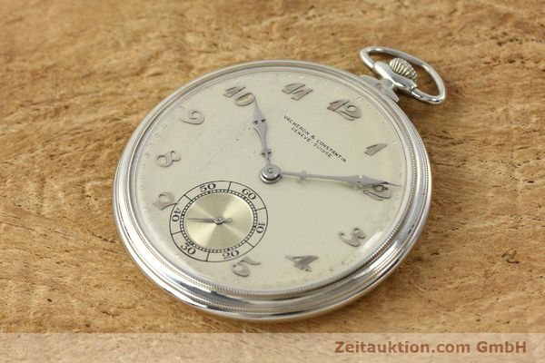 Used luxury watch Vacheron & Constantin Taschenuhr 18 ct white gold manual winding  | 143105 01