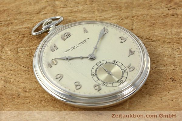 Used luxury watch Vacheron & Constantin Taschenuhr 18 ct white gold manual winding  | 143105 12