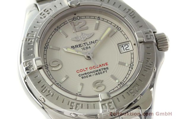 Used luxury watch Breitling Colt Oceane steel quartz Kal. B57 ETA 955412 Ref. A57350  | 143108 02