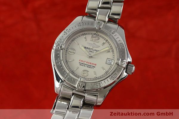 Used luxury watch Breitling Colt Oceane steel quartz Kal. B57 ETA 955412 Ref. A57350  | 143108 04