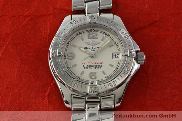 Used luxury watch Breitling Colt Oceane steel quartz Kal. B57 ETA 955412 Ref. A57350  | 143108 15