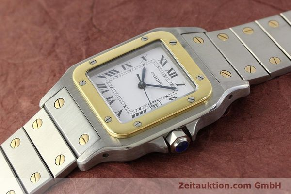 Used luxury watch Cartier Santos steel / gold automatic Kal. 077 ETA 2671  | 143110 01