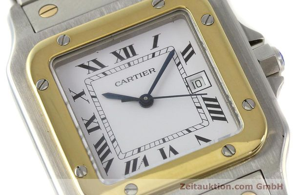 Used luxury watch Cartier Santos steel / gold automatic Kal. 077 ETA 2671  | 143110 02