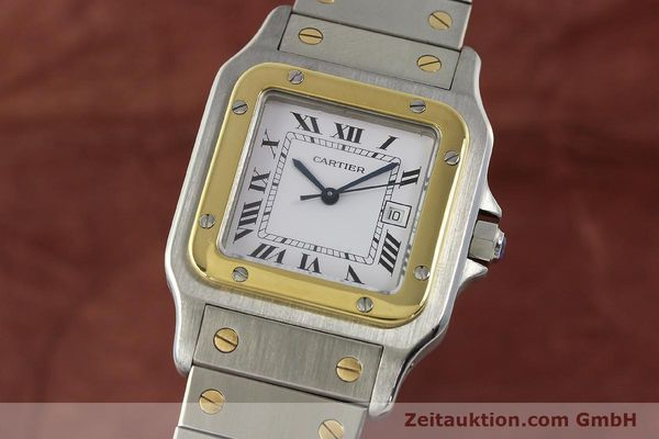 Used luxury watch Cartier Santos steel / gold automatic Kal. 077 ETA 2671  | 143110 04