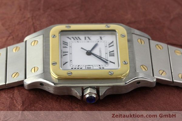 Used luxury watch Cartier Santos steel / gold automatic Kal. 077 ETA 2671  | 143110 05