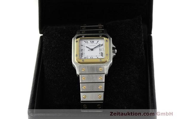 Used luxury watch Cartier Santos steel / gold automatic Kal. 077 ETA 2671  | 143110 07