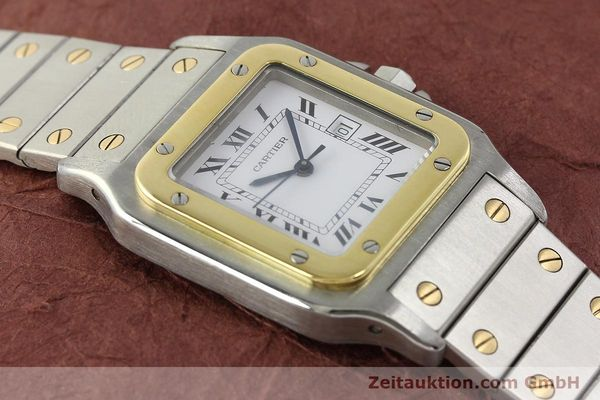 Used luxury watch Cartier Santos steel / gold automatic Kal. 077 ETA 2671  | 143110 13