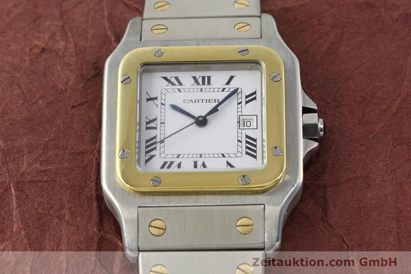 Used luxury watch Cartier Santos steel / gold automatic Kal. 077 ETA 2671  | 143110 14