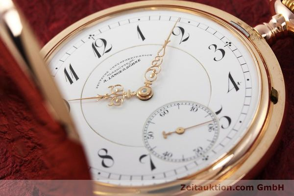 Used luxury watch A. Lange & Söhne DUF 14 ct red gold manual winding  | 143112 02