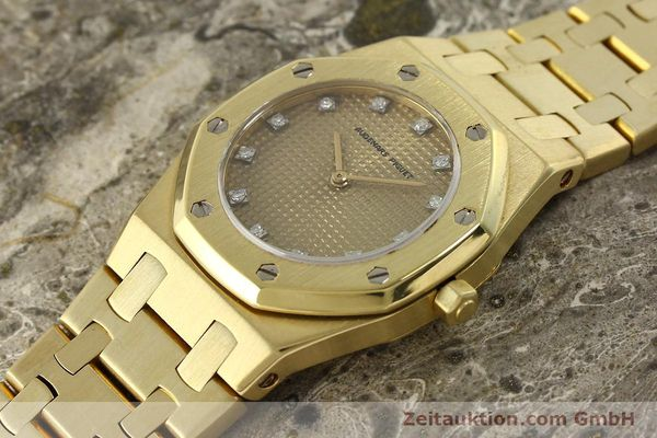 gebrauchte Luxusuhr Audemars Piguet Royal Oak 18k Gold Quarz Ref. B66686  | 143117 01