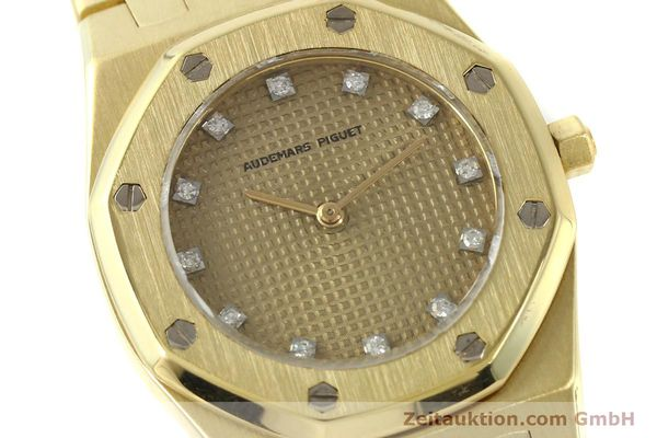 gebrauchte Luxusuhr Audemars Piguet Royal Oak 18k Gold Quarz Ref. B66686  | 143117 02