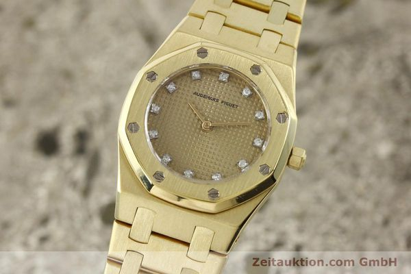 gebrauchte Luxusuhr Audemars Piguet Royal Oak 18k Gold Quarz Ref. B66686  | 143117 04