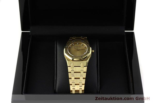 gebrauchte Luxusuhr Audemars Piguet Royal Oak 18k Gold Quarz Ref. B66686  | 143117 07