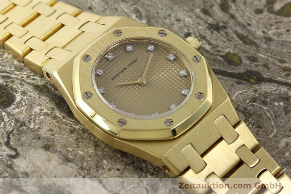gebrauchte Luxusuhr Audemars Piguet Royal Oak 18k Gold Quarz Ref. B66686  | 143117 15