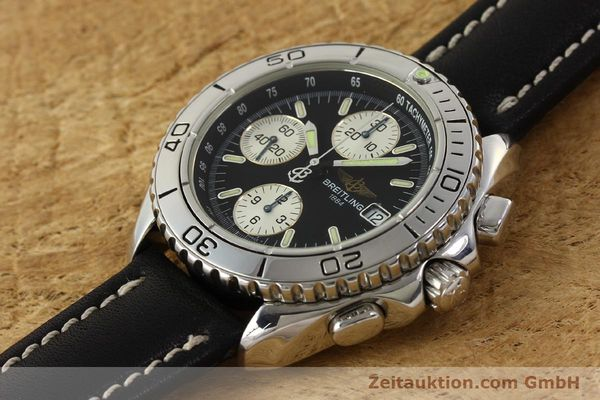 Used luxury watch Breitling Shark chronograph steel automatic Kal. B13 ETA 7750 Ref. A13051  | 150003 01