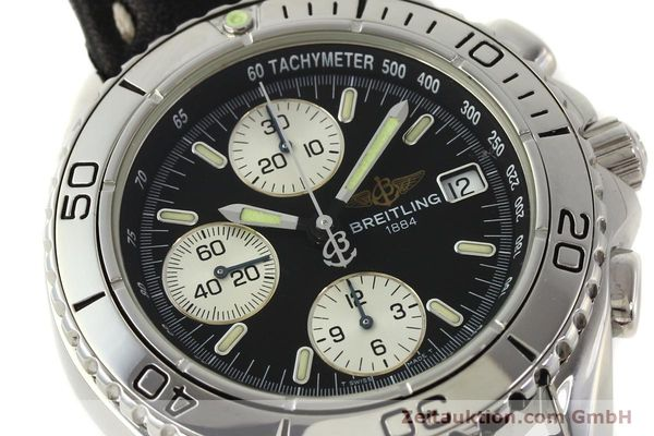 Used luxury watch Breitling Shark chronograph steel automatic Kal. B13 ETA 7750 Ref. A13051  | 150003 02