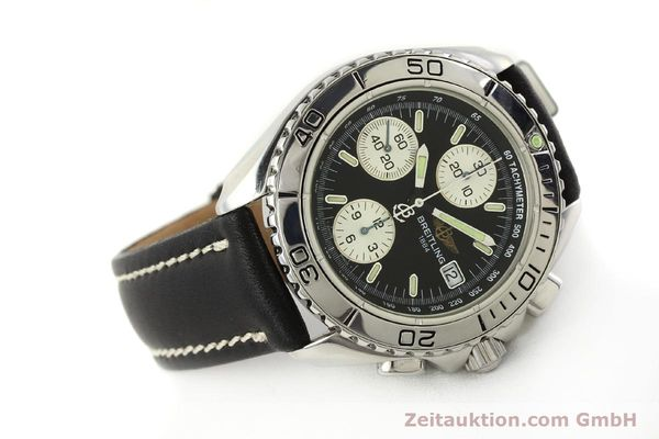 Used luxury watch Breitling Shark chronograph steel automatic Kal. B13 ETA 7750 Ref. A13051  | 150003 03