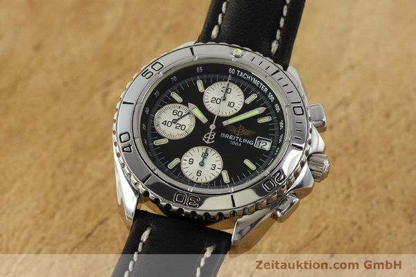 Used luxury watch Breitling Shark chronograph steel automatic Kal. B13 ETA 7750 Ref. A13051  | 150003 04